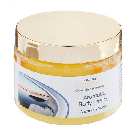 Соляной пилинг для тела с экстрактом ванили и кокоса 330 гр.