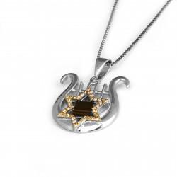 Кулон - подвеска «Звезда Давида» (Маген Давид) арфа нано