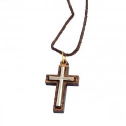 Крест Католический из Оливкового Дерева