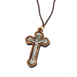 Нательный Освященный Крест из Оливкового Дерева
