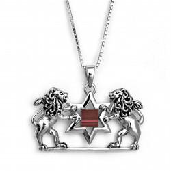 Амулет Львы Иерусалима с Звездой Давида (Нано)