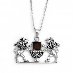 Амулет Львы Иерусалима с Менорой (Нано)