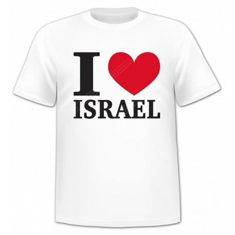 """Футболка """"I LOVE ISRAEL"""""""