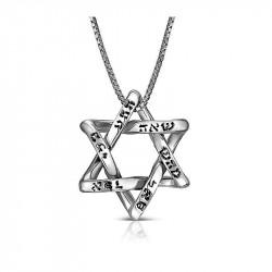 Кулон Звезда Давида с Именами Бога