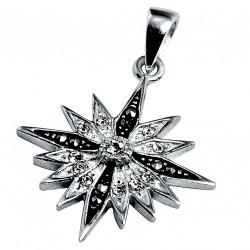 Кулон Вифлеемская звезда с кристаллами