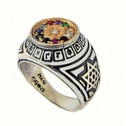 Перстень Каббалы «12 камней Ветхого завета»