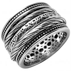 Кольцо Защиты из серебра с эффектом антистресс