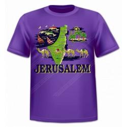 Футболка из Иерусалима Карта Израиля