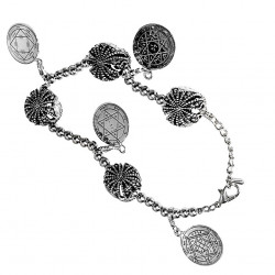 Браслет из Серебра с Печатями Соломона