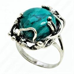 Кольцо с Эйлатским камнем из серебра 925 пр.