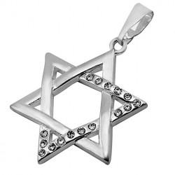 Кулон Звезда Давида Серебро Фианиты