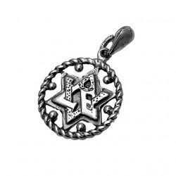 Кулон звезда Давида серебро 925 пр.
