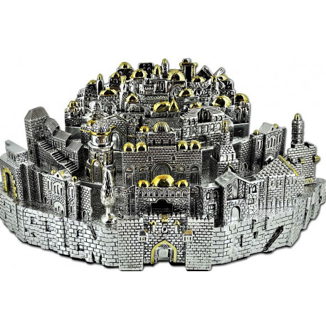 макет иерусалима серебро