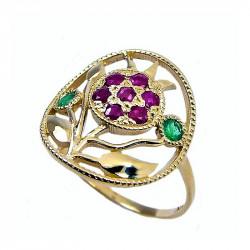 Золотое кольцо «Гранат» - амулет достатка