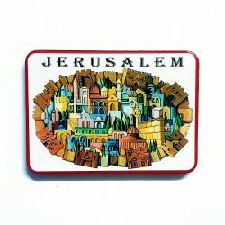 """Магнит Керамический """"Панорама Иерусалима"""""""