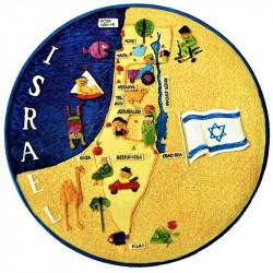 тарелка с картой Израиля