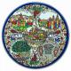 тарелка керамическая Святая Земля