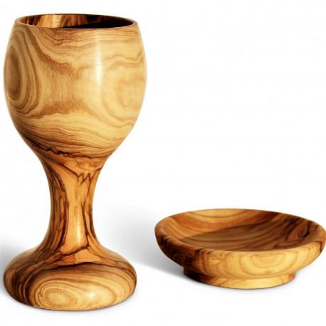 Кубок с Блюдцем из Оливкового Дерева