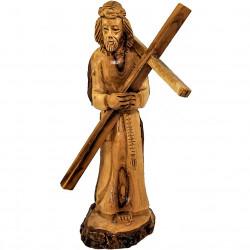 Иисус Христос с распятием из оливкового дерева