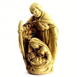 Статуэтка ручной работы Дева Мария с младенцем из оливкового дерева