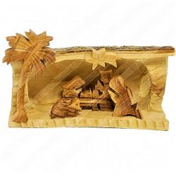 Рождественский вертеп ручной работы из оливкового дерева