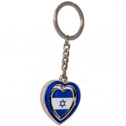 брелок сердце с флагом Израиля