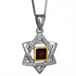 Серебряная звезда Маген Давид с Библией