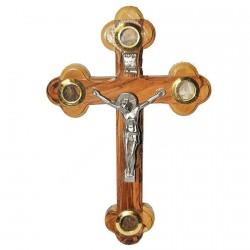 Деревянный крест с распятием (ручная работа)