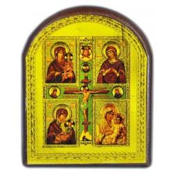 """Голограмма четырехчастной иконы """"Распятие Господне с образами Богоматери"""""""