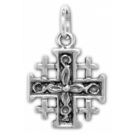 Крестик Иерусалимский серебряный. Освящен в Храме