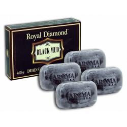 "Черное грязевое мыло Royal Diamond 4 шт."""