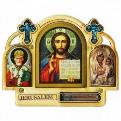 Триптих в машину со Святой Землей из Иерусалима