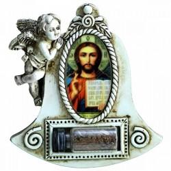 Магнит с иконой и Святой землей из Иерусалима