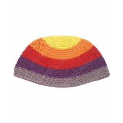 Разноцветная вязаная кипа