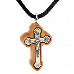 Нательный деревянный крест ручной работы (Православный)
