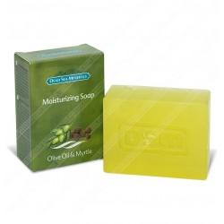 Увлажняющее мыло с оливковым и миртовым маслом.