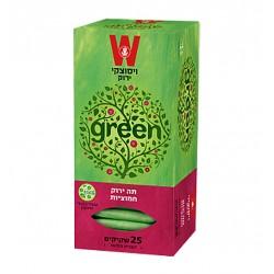 Зеленый чай со вкусом клюквы