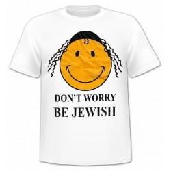 """Футболка из Иерусалима """"Don't Worry, Be Jewish"""""""