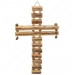 Настенный крест с молитвой Отче наш на английском языке