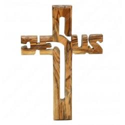 Крест из оливкового дерева ручной работы Jesus