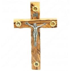 Крест с распятием ручной работы из оливкового дерева