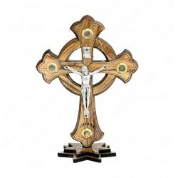 Крест с распятием на подставке с благословением дома