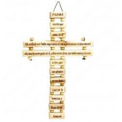 Настенный крест с молитвой Отче наш на испанском языке