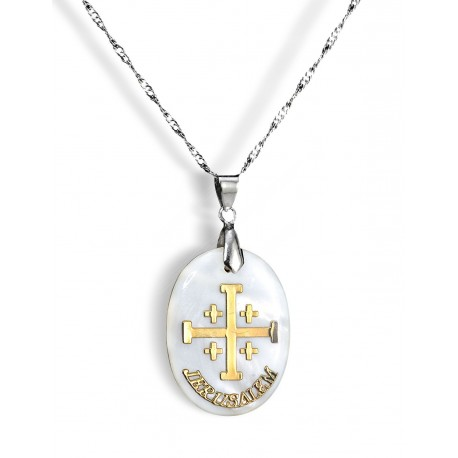 Медальон Иерусалимский крест