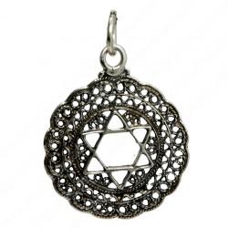 Кулон звезда Давида ( Маген Давид) серебро