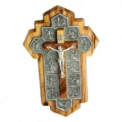 Настенный крест с распятием и фрагментами Крестного пути