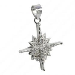 Кулон с кристаллами Сваровски Вифлеемская звезда (серебро 925 пр.)