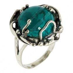 Серебряное кольцо с эйлатским камнем