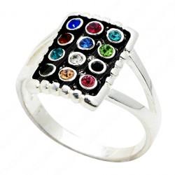 Кольцо с 12 кристаллами Сваровски