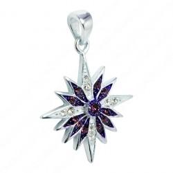 Серебряный кулон Вифлеемская звезда с кристаллами Сваровски